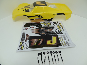 T1000 Painted Truck Body (yellow) Fits HPI Baja 5T