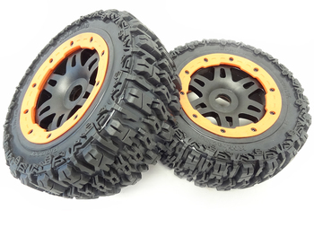 T1000 GT Pioneer Knobby Rear Wheels (Orange)