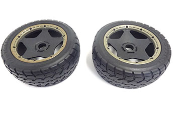 Baja Buggy Front Road Tarmac Wheels on Poison 10 Spoke Rims (set of 2)