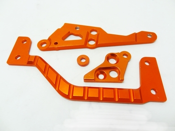 Baja Aluminum HD Engine, Frame, Chassis Mounts (orange)