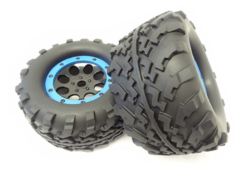 1/8 Scale Monster Truck Mounted Wheels & Tires with 17mm Hex