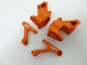 Aluminum Baja Front Hub Carrier (set of 2) (orange)