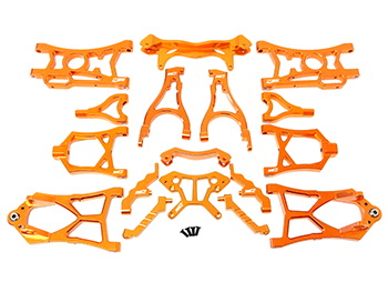 CNC Aluminum Suspension Kit w/ Shock Towers (orange)