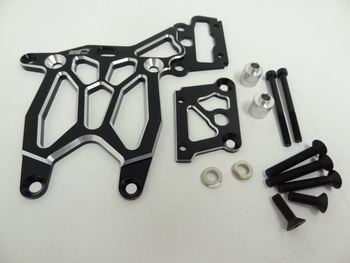 Rear HD Baja Aluminum Upper Plate and Break Brace (black)