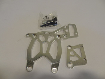 Rear HD Baja Aluminum Upper Plate and Break Brace (silver)