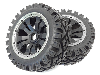 Baja Buggy All Terrain Front Tires on Poison Wheels (2)