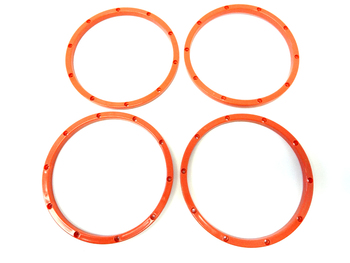 New King Motor Inner Orange Plastic Beadlocks Set of 4 HPI Baja 5B 5T 5SC 2.0 SS