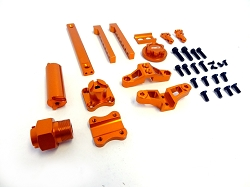 CNC Aluminum Spare Tire Mounting Kit (orange)