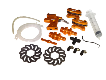 V2 Hydraulic Aluminum Front Hydro Brake Kit (orange)