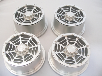 Truck EX Aluminum Spider Rims with Nuts (set  of 4)