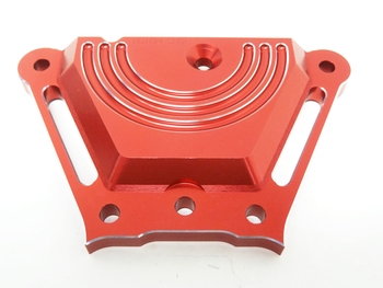 X2 CNC Aluminum Front Chassis Steering Brace (red)