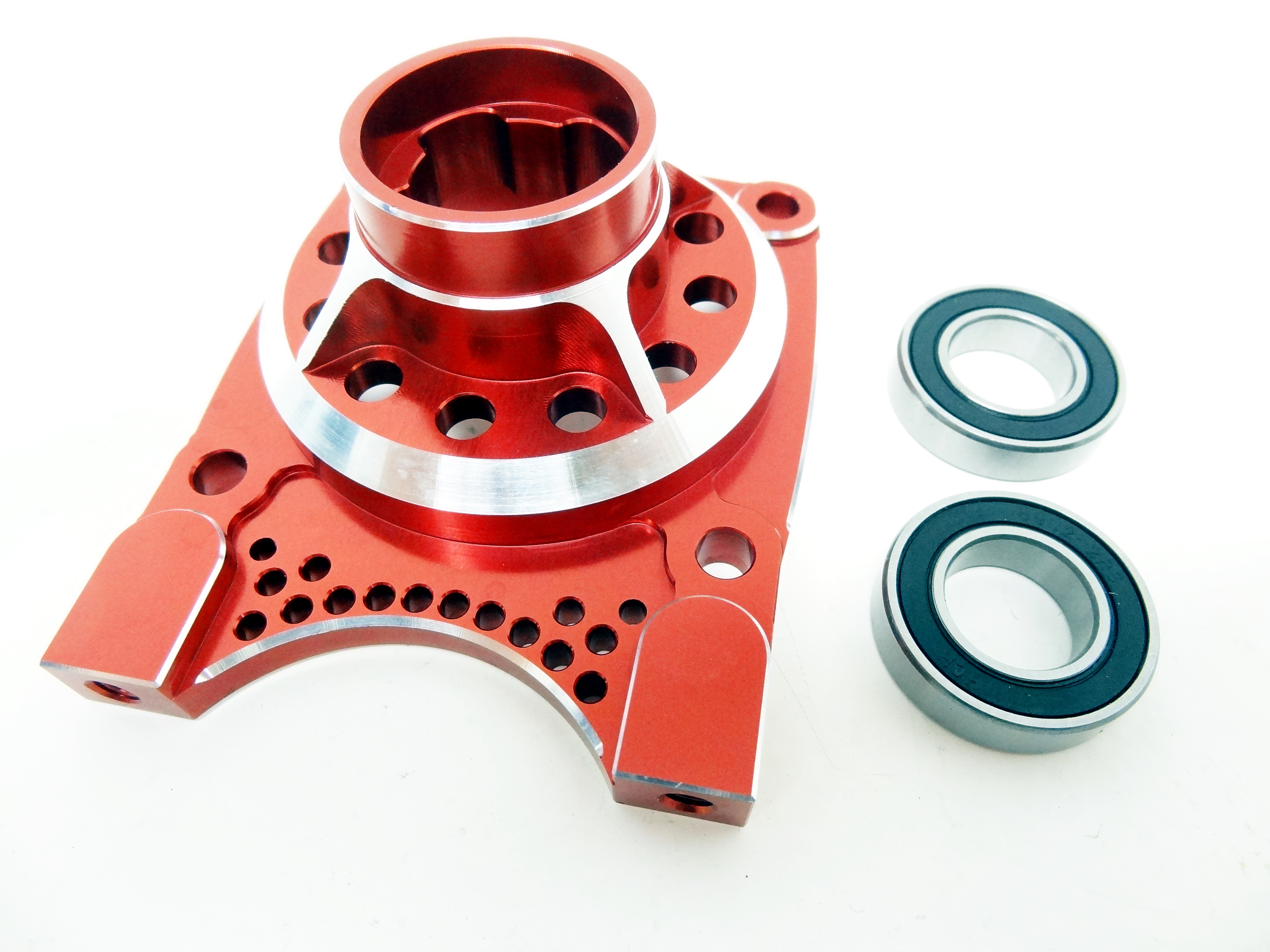X2 CNC Aluminum Vented Clutch Housing (red)