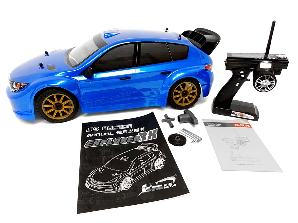 1/7 Scale RTR 4WD Electric Explorer RX2 V2 Rally Car (blue) (LAST ONE!)