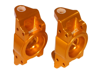 T2000 CNC Aluminum Front Hub Bearing Supports (501014) (set of 2) (orange)