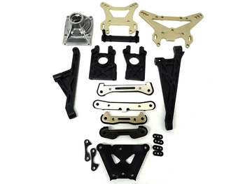 King Motor X2 Shock Tower & Chassis Hinge Pin Brace Kit