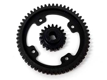 1/5 Scale 55/19 Gear Set for Black Bone & King Motor V2 2-Speed Kits