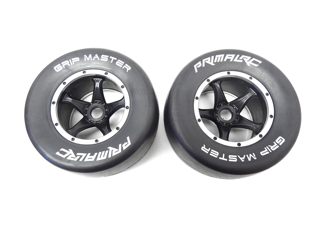 Primal RC QuickSilver Rear Racing Slick Wheels & Tires (set of 2)