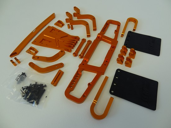 Baja T1000 GT Short Course Truck Aluminum Front & Rear Bumpers (orange)