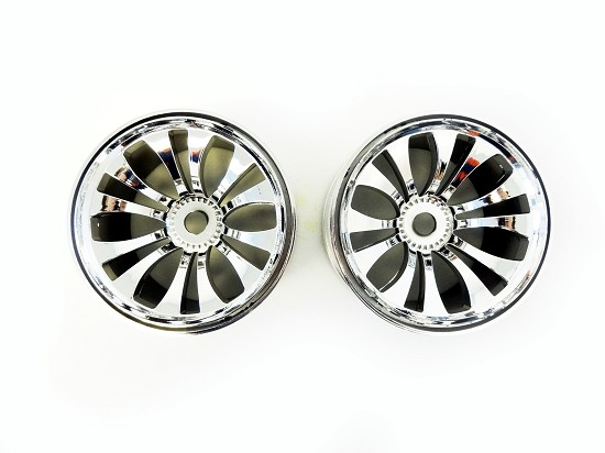 T2000 Chrome Plated Nylon Rims, Wheels 4WD Truck