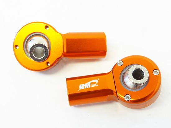 Aluminum Alloy Rear Upper Ball Ends (orange)