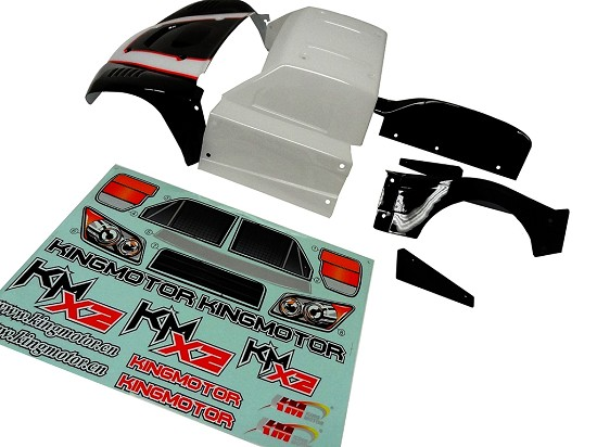 King Motor X2 Short Course Truck Body Kit (CLEAR, UNPAINTED)
