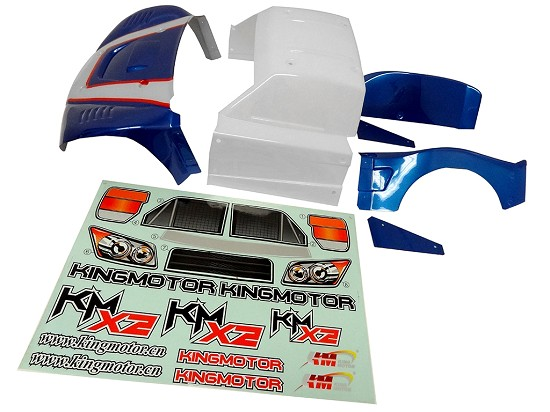 King Motor X2 Short Course Truck Body Kit (blue/white)